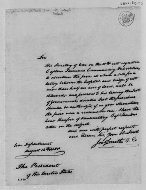 John Smith to Thomas Jefferson, August 12, 1808