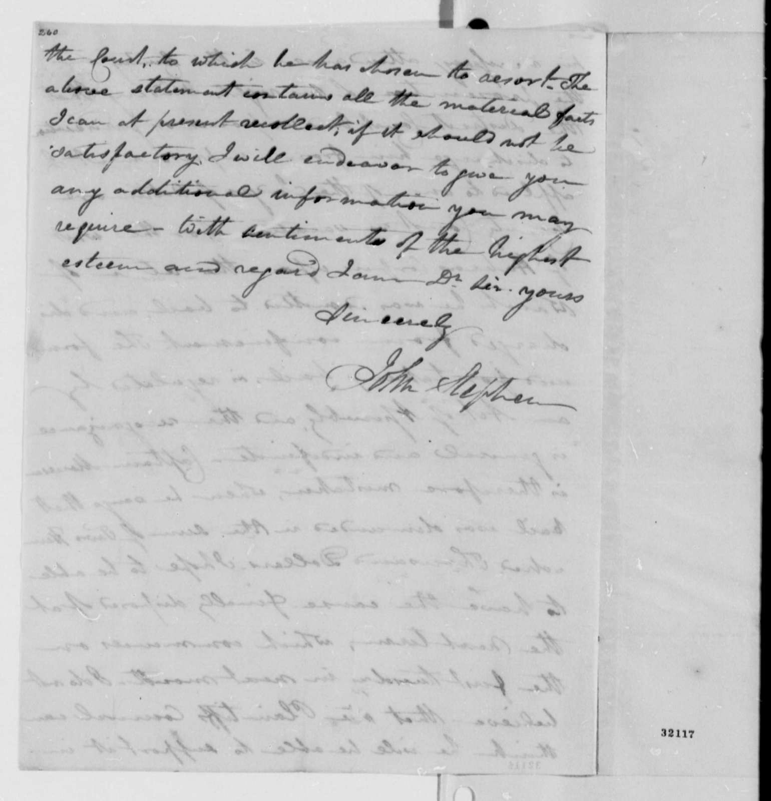 John Stephen to Caesar A. Rodney, September 22, 1808