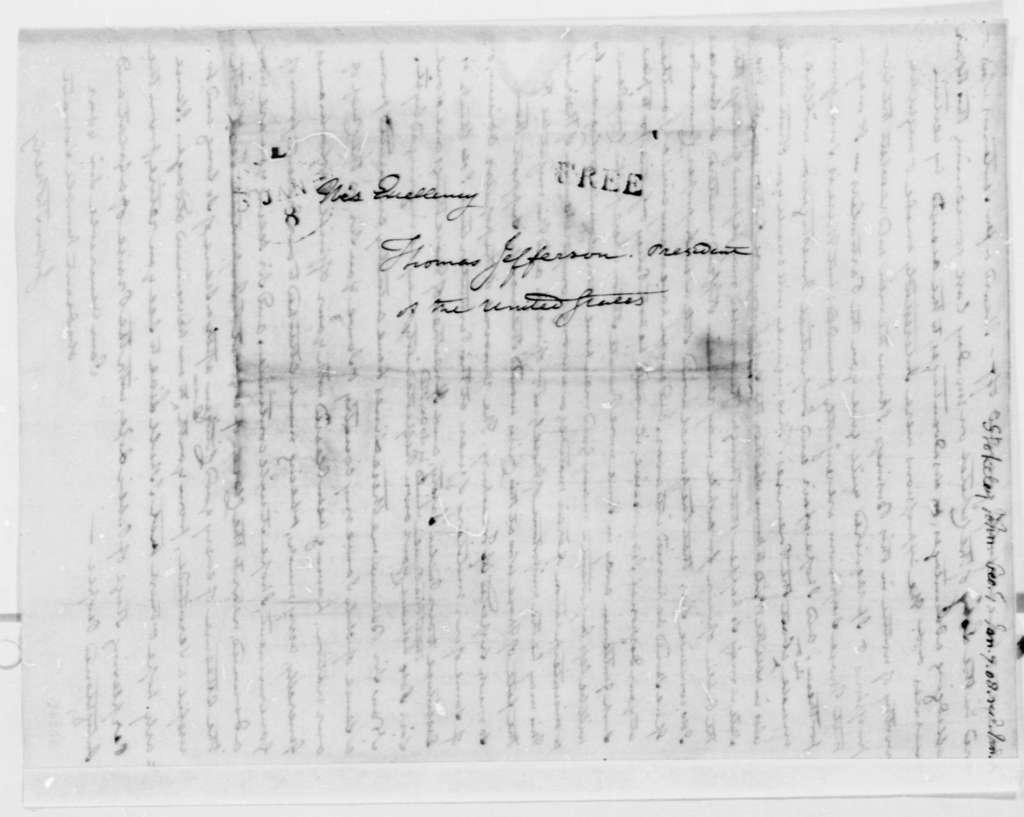 John Stokely to Thomas Jefferson, January 7, 1808