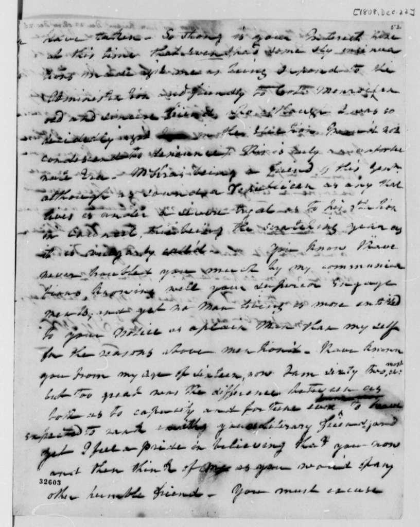 John Tyler to Thomas Jefferson, December 22, 1808