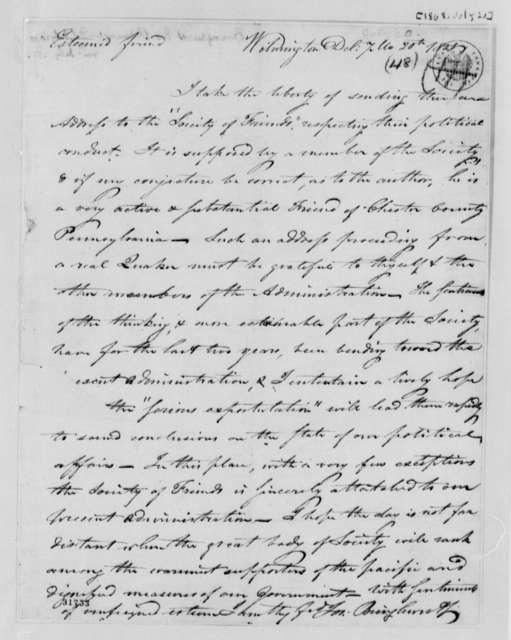 Joseph Bringhurst to Thomas Jefferson, July 20, 1808