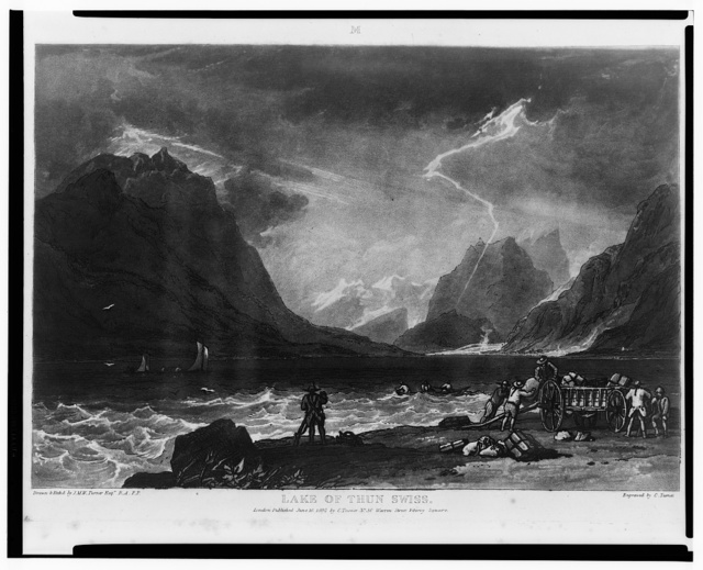 Lake of Thun, Swiss / drawn & etch'd. by J.M.W. Turner ; engraved by C. Turner.