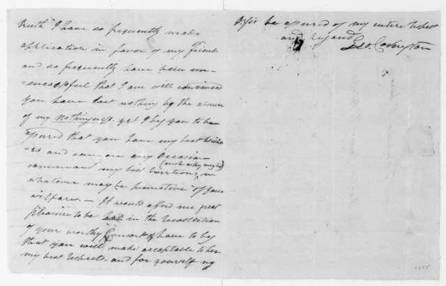 Leonard Covington to James H. Blake, June 2, 1808.