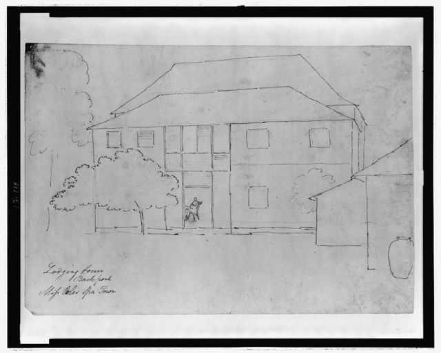 Lodging house, back-front, Miss Coles, Spa[nish] Town