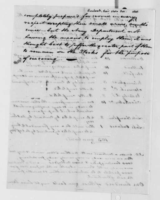 Naval Gunboats, November 1, 1808, Report