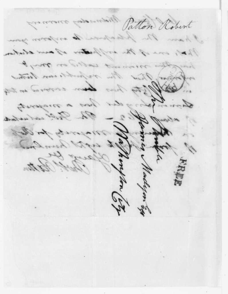 Robert Patton to James Madison, October 12, 1808.