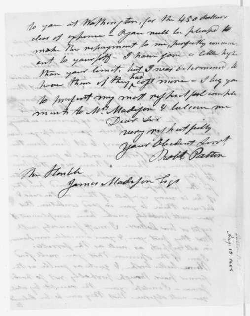 Robert Patton to James Madison, October 15, 1808.
