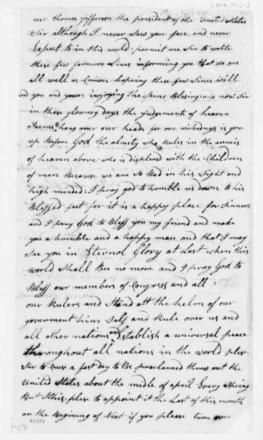 Roswell Woodworth to Thomas Jefferson, May 1, 1808