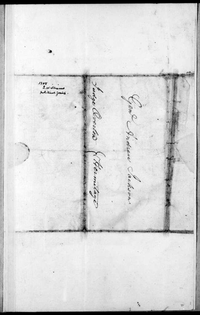 Sampson Williams to Andrew Jackson, April 25, 1808