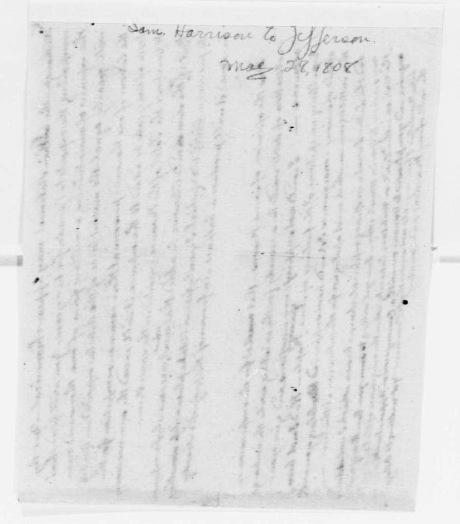 Samuel Harrison to Thomas Jefferson, May 28, 1808