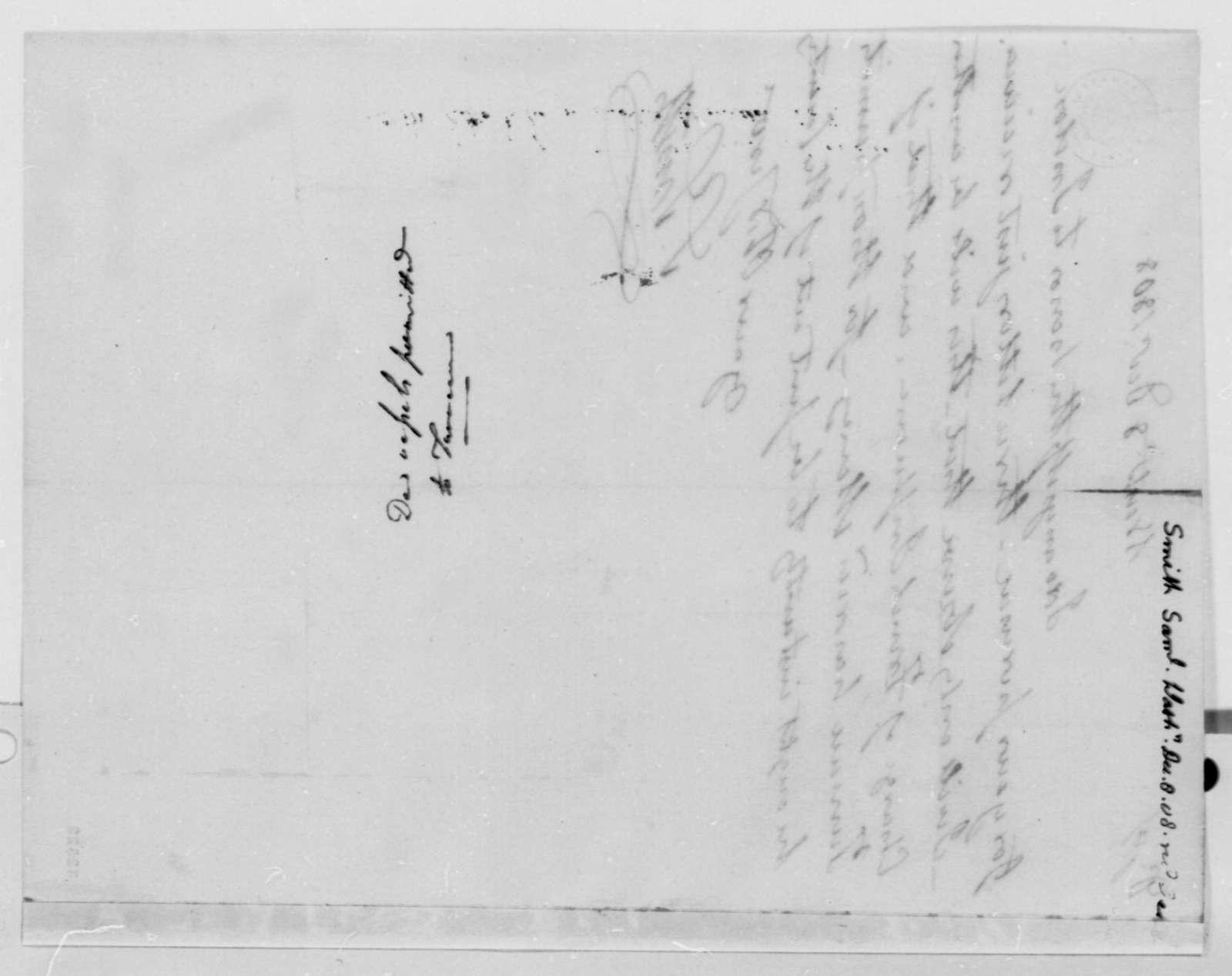 Samuel Smith to Thomas Jefferson, December 8, 1808