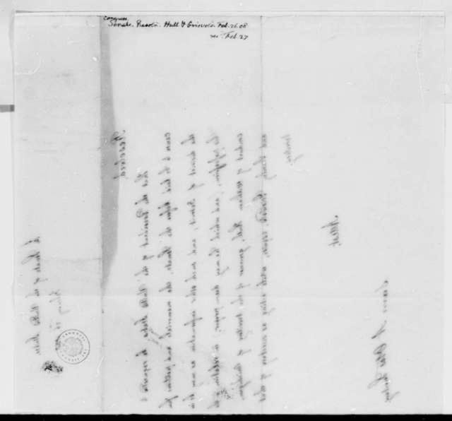 Senate, February 26, 1808, Resolution on William Hull's Conduct