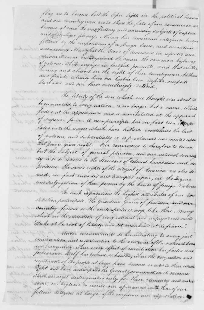 Tammany Society to Thomas Jefferson, February 1808, Dated as Received February 16