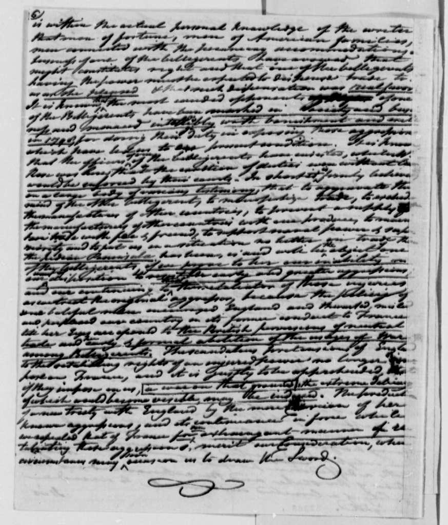 Tench Coxe to Thomas Jefferson, November 19, 1808