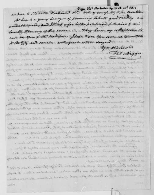Thomas Digges to Thomas Jefferson, September 20, 1808