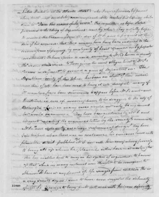 Thomas Henderson to Thomas Jefferson, March 7, 1808