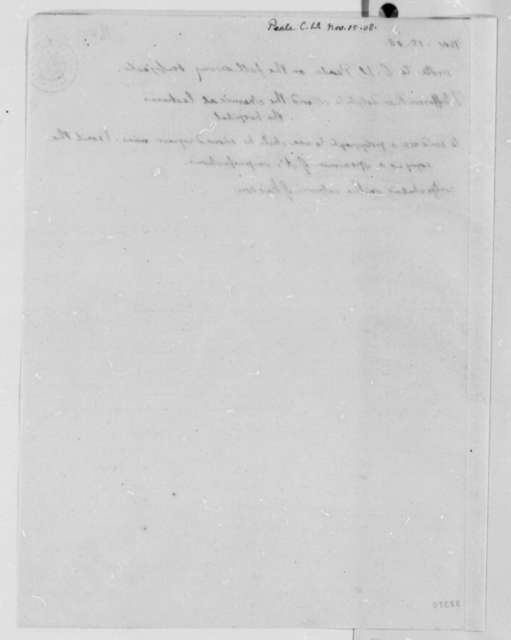 Thomas Jefferson to Charles Willson Peale, November 15, 1808, Notation
