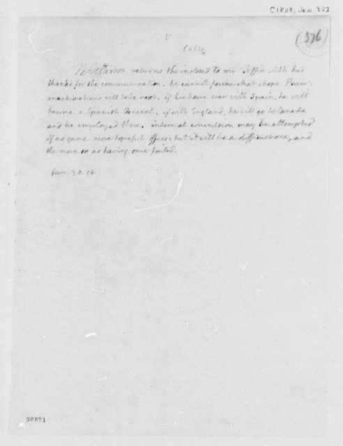 Thomas Jefferson to Edward Tiffin, January 30, 1808