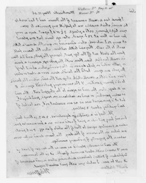 Thomas Jefferson to Gustavus Horner and James W. Wallace, May 15, 1808