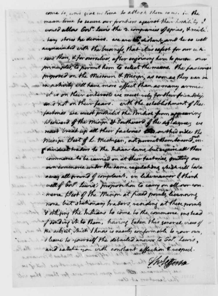 Thomas Jefferson to Henry Dearborn, August 20, 1808