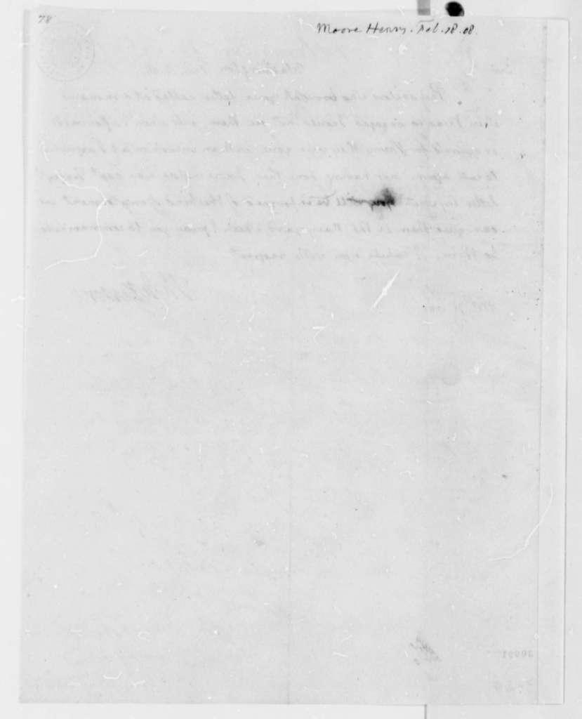 Thomas Jefferson to Henry Moore, February 18, 1808