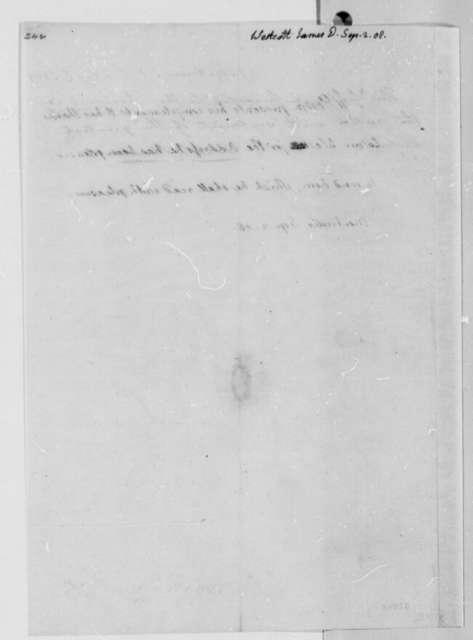 Thomas Jefferson to James D. Westcott, September 2, 1808