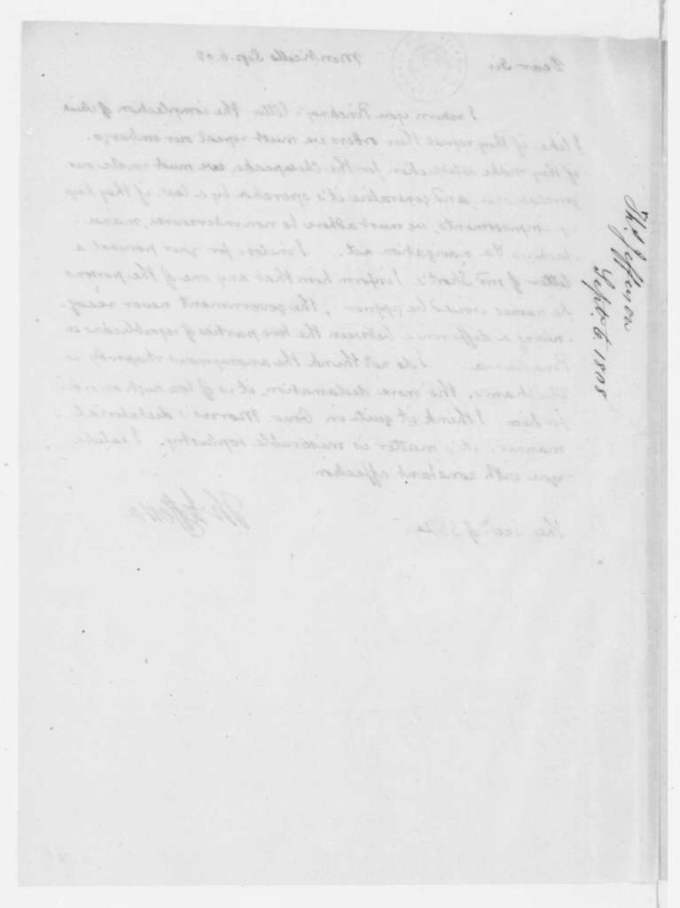 Thomas Jefferson to James Madison, September 6, 1808.