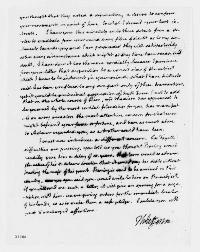 Thomas Jefferson to James Monroe, April 11, 1808