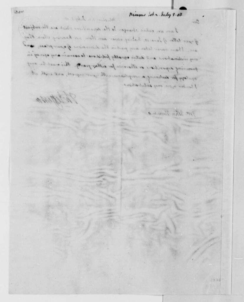 Thomas Jefferson to John Nimmo, July 5, 1808