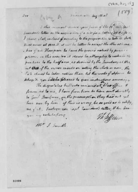 Thomas Jefferson to John Smith, August 15, 1808