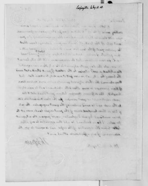 Thomas Jefferson to Marie Joseph Paul Yves Roch Gilbert du Motier, Marquis de Lafayette, July 18, 1808