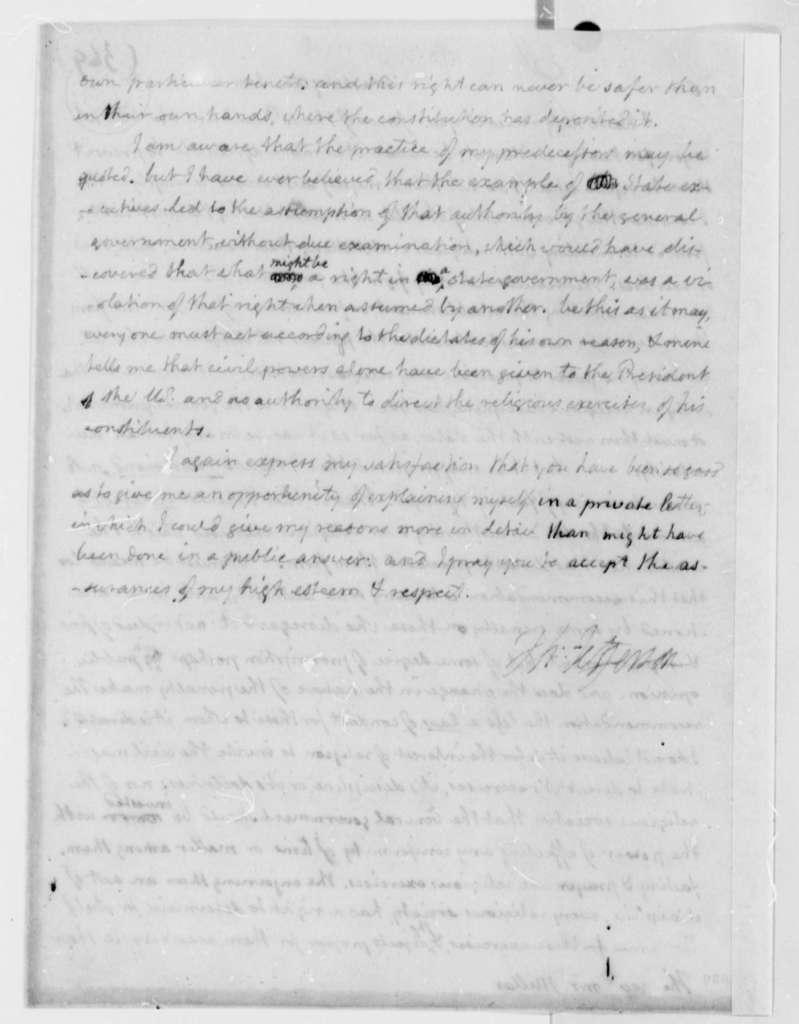 Thomas Jefferson to Samuel Miller, January 23, 1808
