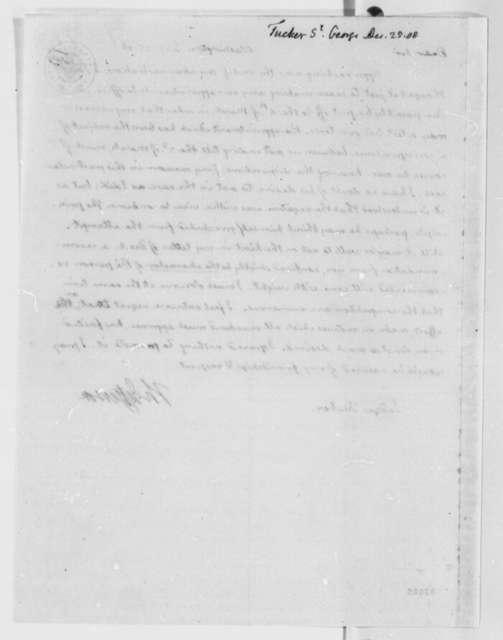 Thomas Jefferson to St. George Tucker, December 25, 1808