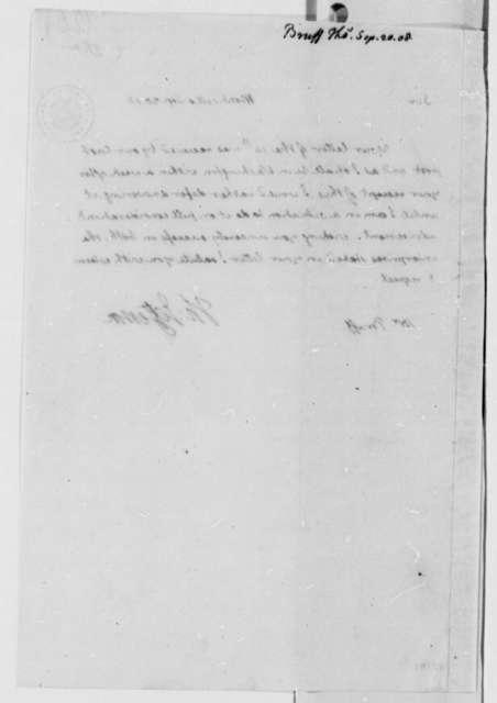 Thomas Jefferson to Thomas Bruff, September 20, 1808, with Copy
