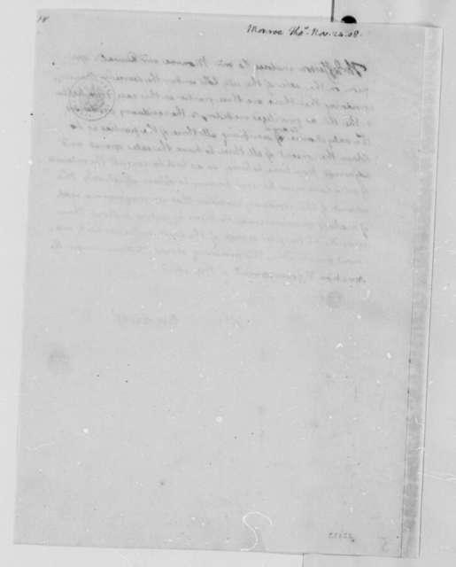 Thomas Jefferson to Thomas Munroe, November 24, 1808