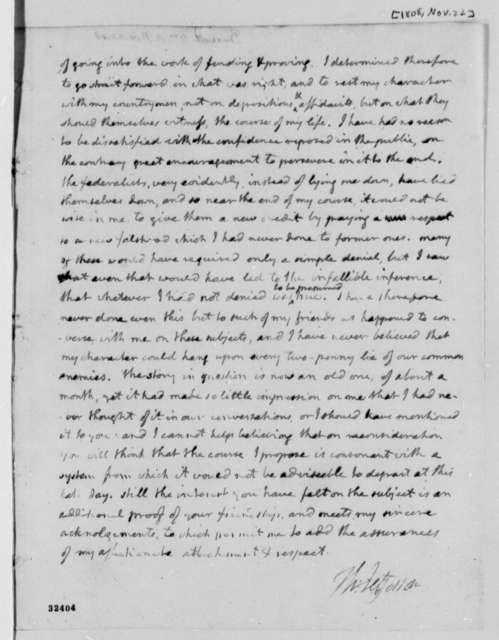 Thomas Jefferson to William A. Burwell, November 22, 1808