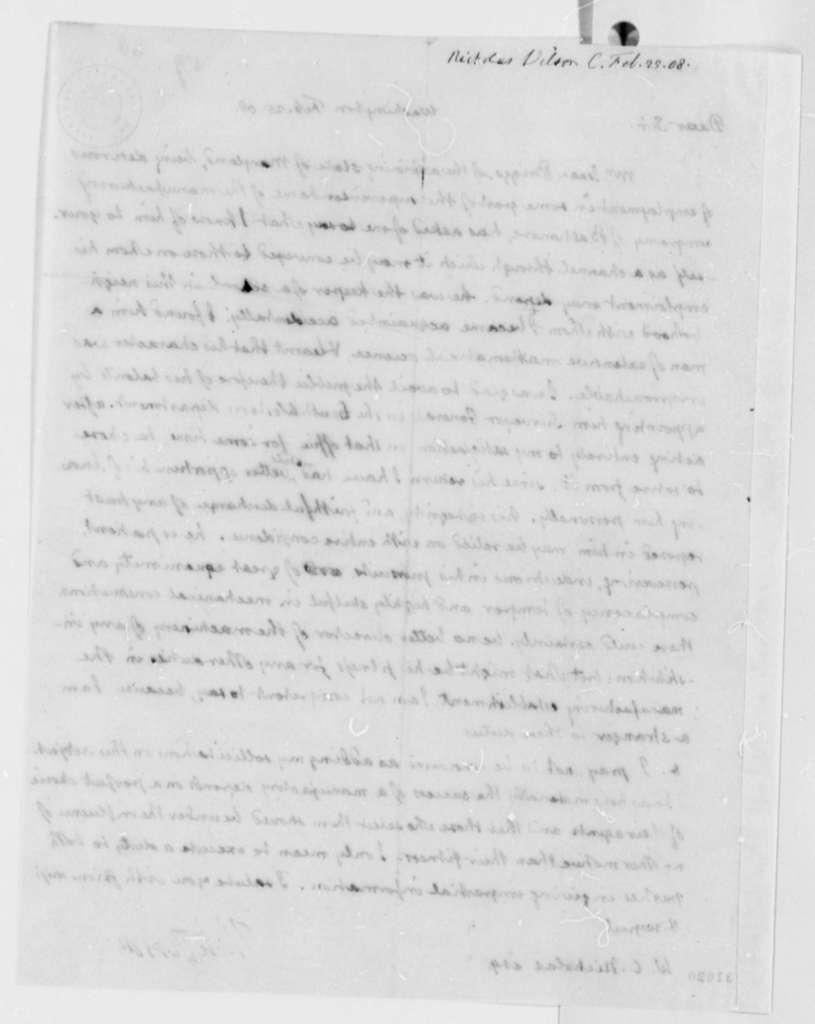 Thomas Jefferson to Wilson Cary Nicholas, February 25, 1808