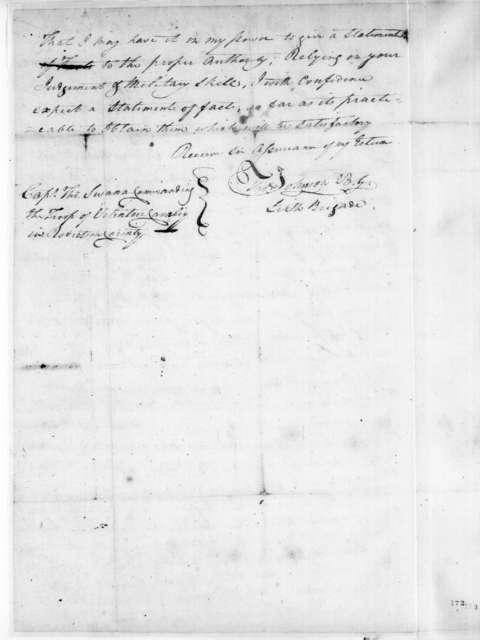 Thomas Johnson to Thomas Swann, April 26, 1808