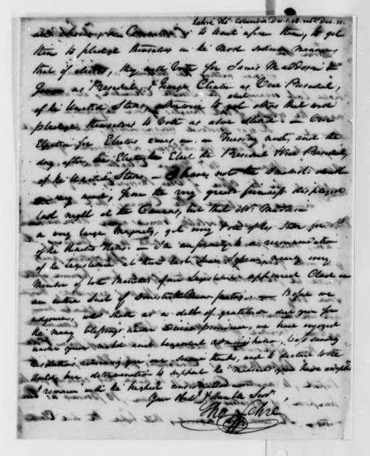 Thomas Lehre to Thomas Jefferson, December 1, 1808