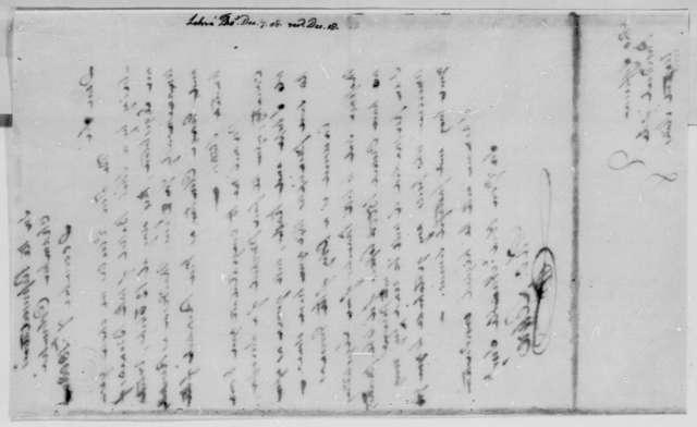 Thomas Lehre to Thomas Jefferson, December 7, 1808