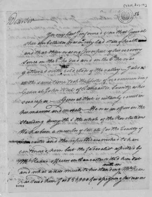 Thomas Leiper to Thomas Jefferson, August 18, 1808