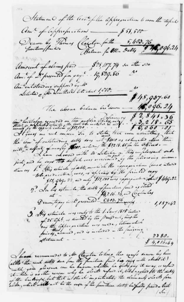 Thomas Munroe to Thomas Jefferson, May 13, 1808