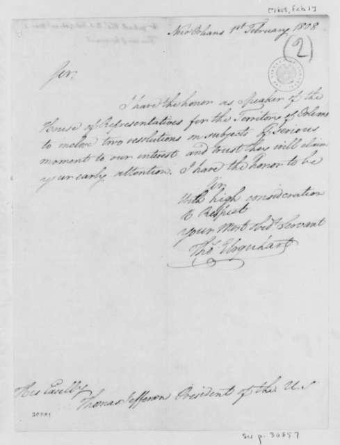 Thomas Urquhart to Thomas Jefferson, February 1, 1808