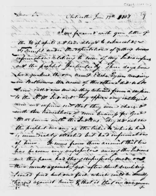 Thomas Worthington to Thomas Jefferson, June 12, 1808