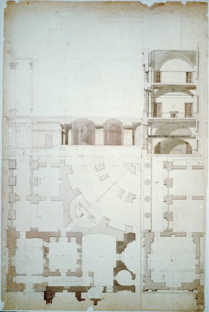 [United States Capitol, Washington, D.C. Plans & sections, NW corner of south wing]