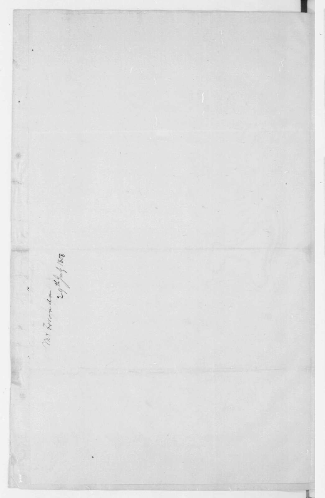 Valentin de Foronda to James Madison, July 29, 1808. Includes decree dated Mar 19 - In Spanish.