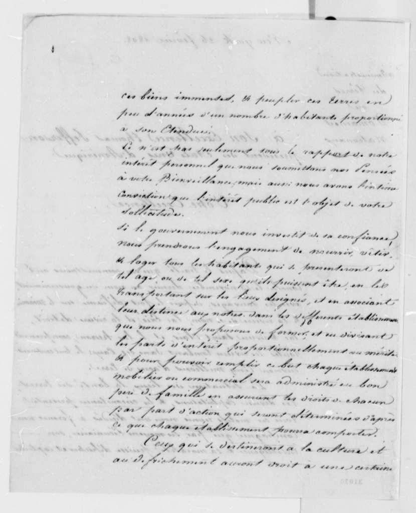 Van Preters, Desprez, and Condere to Thomas Jefferson, February 26, 1808, in French