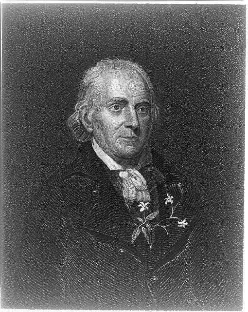 [William Bartram, botanist. Bust portrait with sprig of fragrant jasmine tucked into his jacket below his cravat]