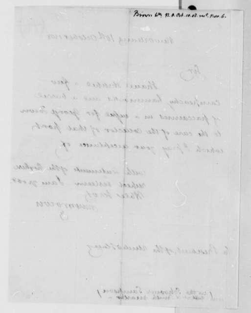 William Brown to Thomas Jefferson, October 10, 1808