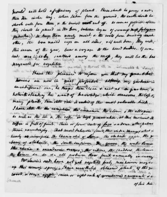 William Hamilton to Thomas Jefferson, February 5, 1808